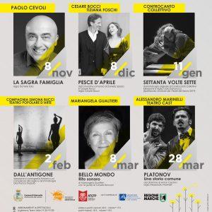 Stagione teatrale 2019/20 Teatro Valle