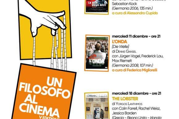 UN FILOSOFO AL CINEMA, quando i film aiutano a pensare – V edizione